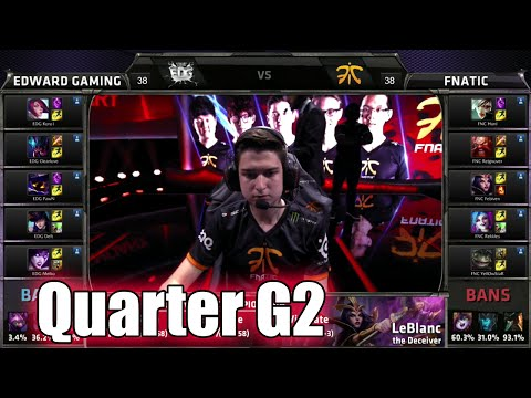 Fnatic vs Edward Gaming | Game 2 Quarter Finals LoL S5 World Championship 2015 | FNC vs EDG G2