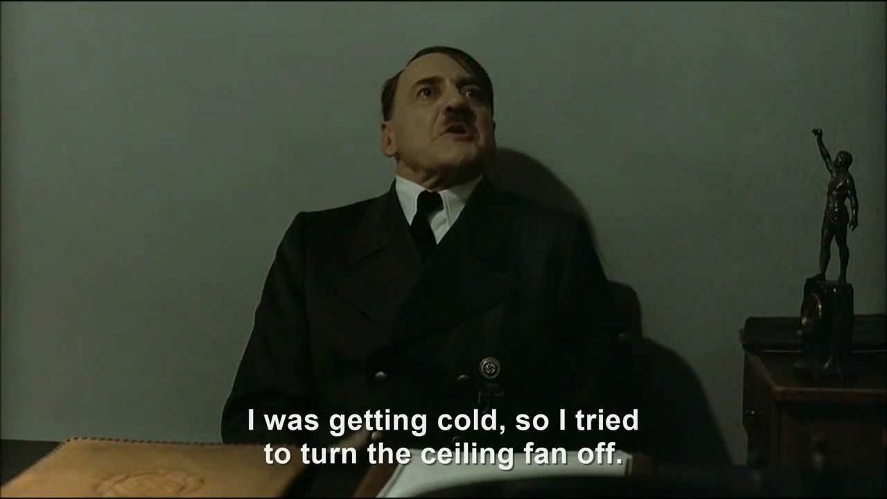 Hitler Cat and the ceiling fan incident