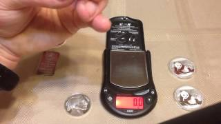 Weighing 2015 Silver Pandas!