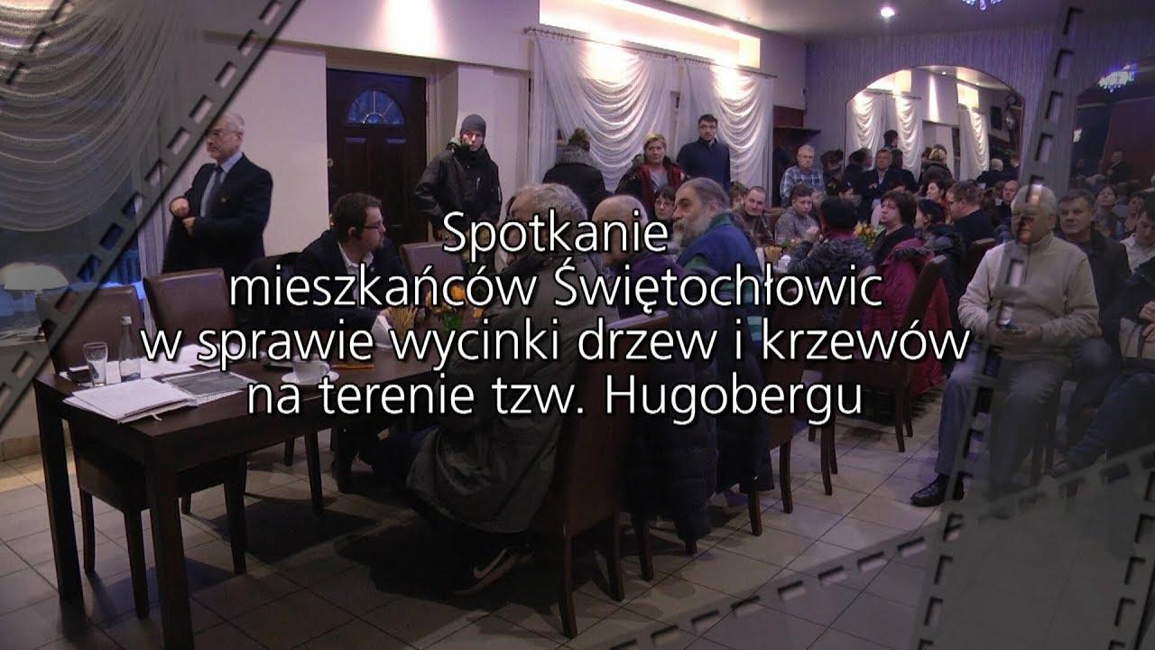 Spotkanie mieszkańców Świętochłowic w sprawie wycinki drzew i krzewów na Hugobergu