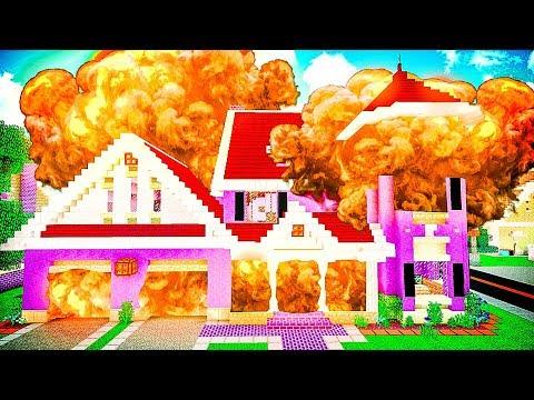 Сосед ВЗОРВАЛ мне дом в Майнкрафт! БИТВА СОСЕДЕЙ в Майнкрафте НУБ И ПРО | Minecraft Приколы | ВЛАДУС