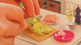 S2 EP59: REAL FOOD TOY STIR FRY CABBAGE AND HAM [ AWESOME MINIATURE TOYS]