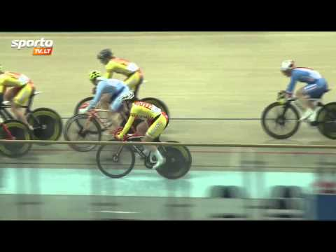 Women's Elimination Race - 2015 Panevezys International Track Cycling Event