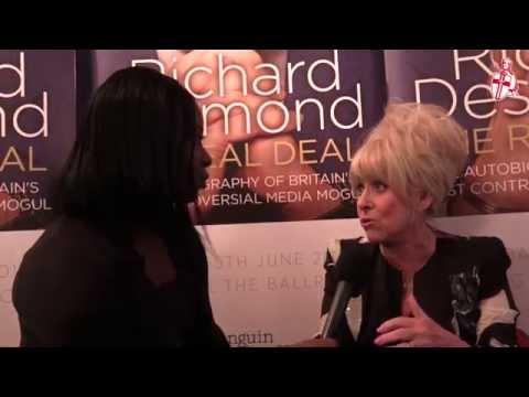 Barbara Windsor interview at Richard Desmond's book launch