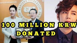 Jang Geun Suk donates 100 million KRW to old university