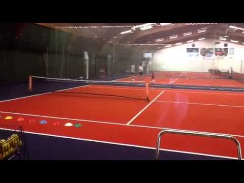 Libby playing tennis