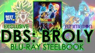 Dragon Ball Super Broly (2018) Blu-ray Steelbook Unboxing | Best Buy Exclusive (4K Video) DBS