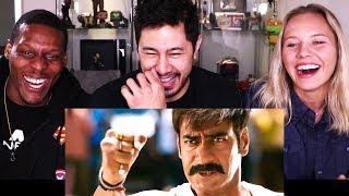 SINGHAM   Ajay Devgn   Fight Scene   Reaction w/ Chris & Amy!