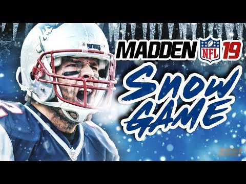 Madden NFL 19 Snow Gameplay! Patriots vs Raiders - Tuck Rule Part 2?