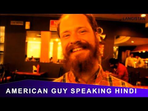 White American Guy Speaking Superb Hindi