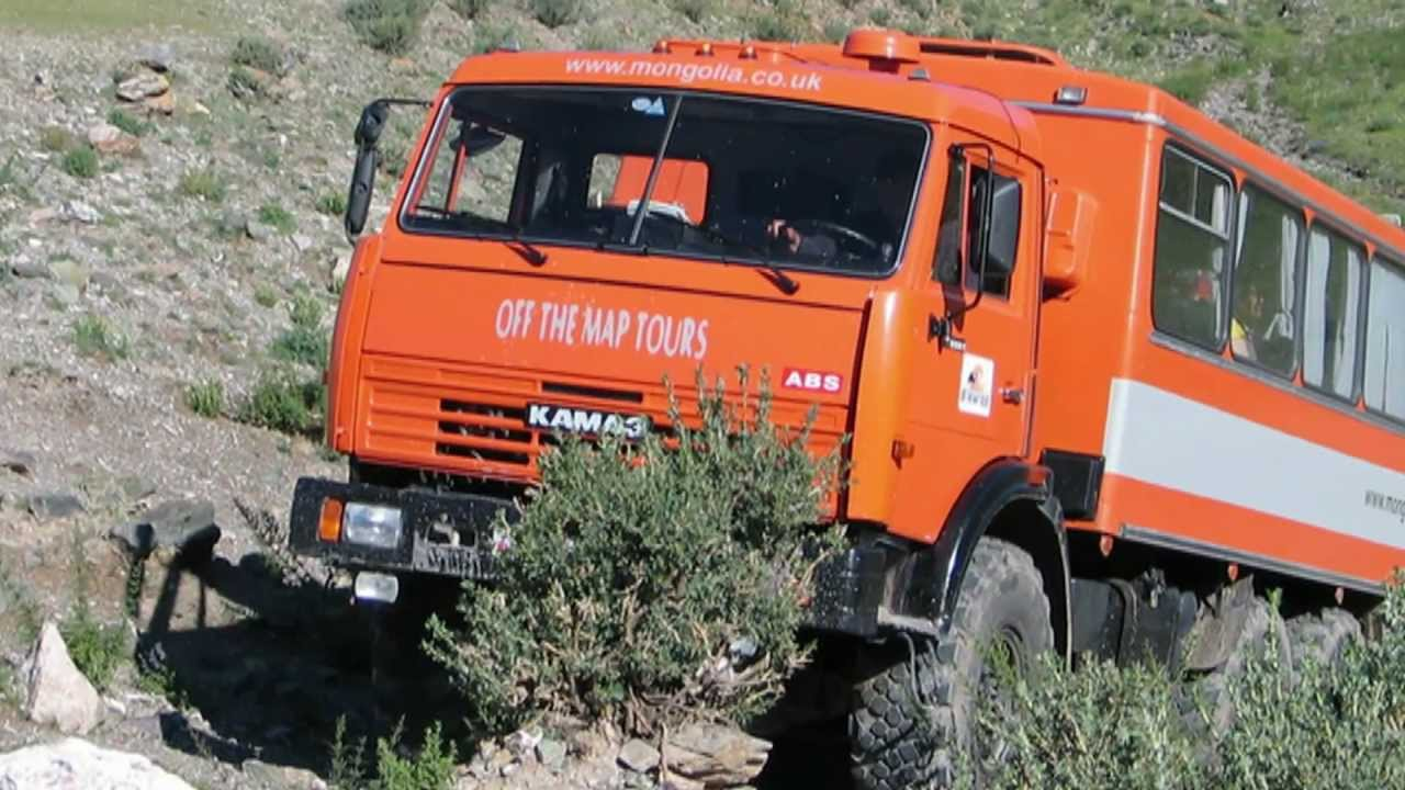 mongolia kamaz 43114 expedition truck 6x6  reynolds boughton rb44  land rover defender 130