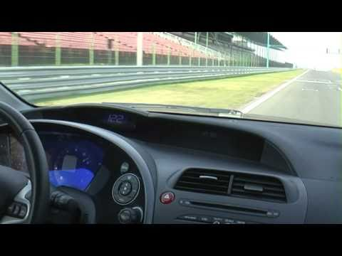 2007 Honda Civic 1.8 on the racetrack 2/3 (better quality)