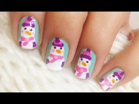 Snowman's Cute Girlfriend Nails ♥ 12 Days of Christmas Nail Art Challenge