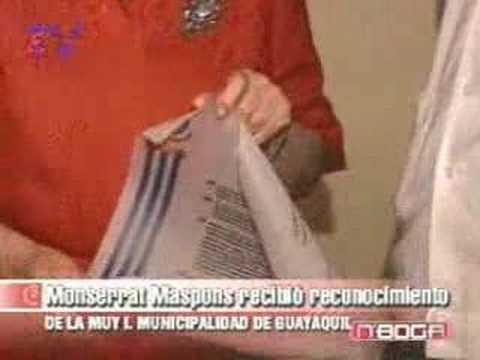 Monserrat Maspons recibió reconocimiento