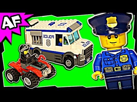 Police PRISONER TRANSPORTER 60043 Lego City Animated Building Review