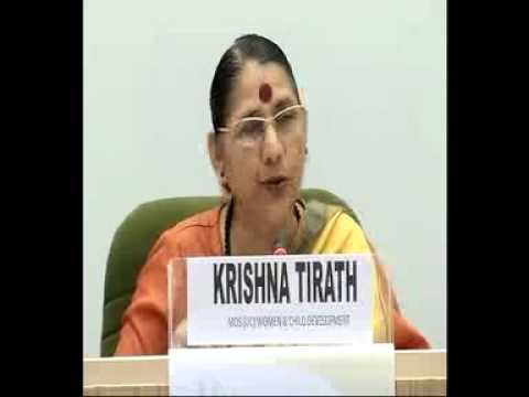 Smt.Krishna Tirath, WCD Minister interacted with media at NationalEditors'Conference-Part2