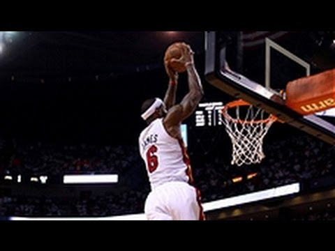 LeBron James' Sky-High Alley-Oop slam dunk!