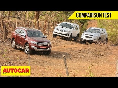 Ford Endeavour VS Chevrolet Trailblazer VS Toyota Fortuner | Comparison Test | Autocar India