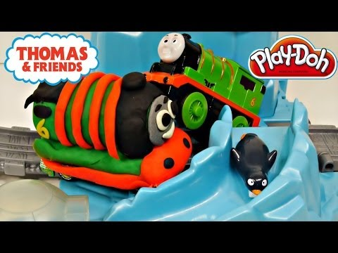 Thomas and Friends Play Doh Percy's Penguin Adventure Train Track Toys Review - Disney Cars Toy Club