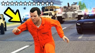 GTA 5 - 12 STAR WANTED LEVEL!! (Can We Escape?)