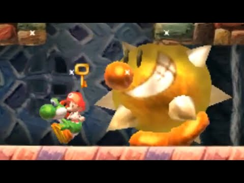 Yoshi's New Island (3DS) - Final Level, Bowser Fight, Ending (Baby Bowser's Castle Break-In)