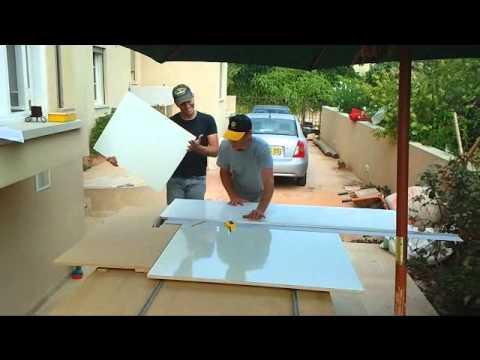 Sliding Tablesaw Homemade : homemade sliding table saw - YouTube