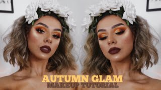 YOUR GAL IS BRINGING YOU AUTUMN GLAM VIBES🍂 CHIT CHAT MAKEUP TUTORIAL