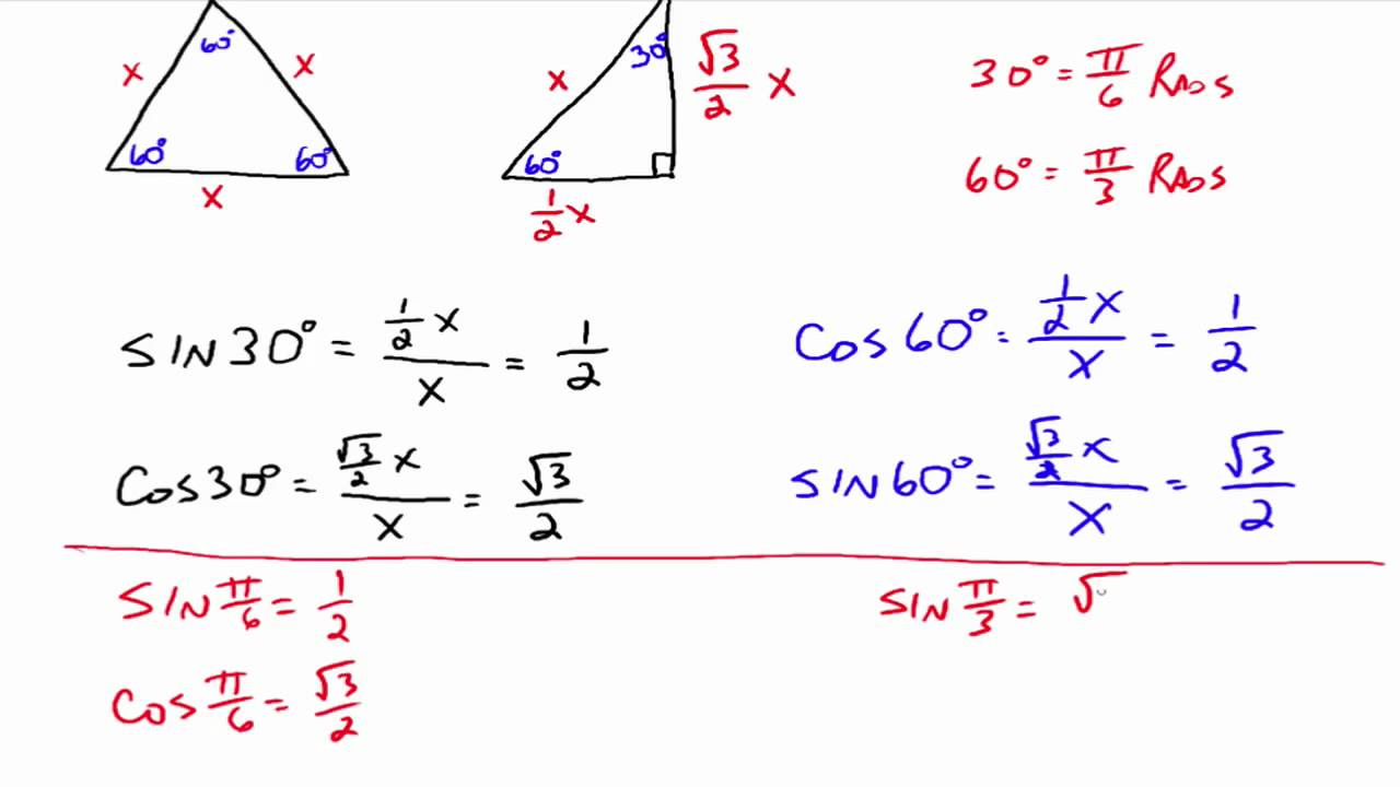 trigonometric function values of special youtube. Black Bedroom Furniture Sets. Home Design Ideas