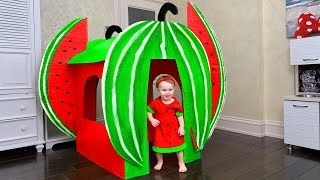 Kids playing with Magic Watermelon Playhouse