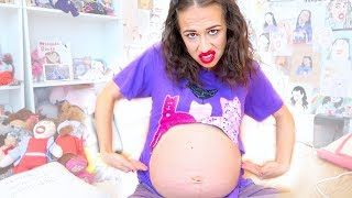 WATCH MY BABY MOVE IN MY PREGNANT BELLY!