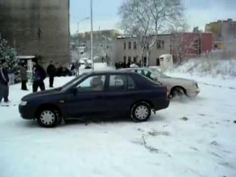 Atak Zimy 09.01.2010 - Stromy Podjazd W Szczecinie Cz.2.