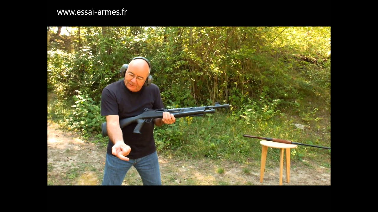 deux fusils pompe canon ray 1 re partie tirs. Black Bedroom Furniture Sets. Home Design Ideas