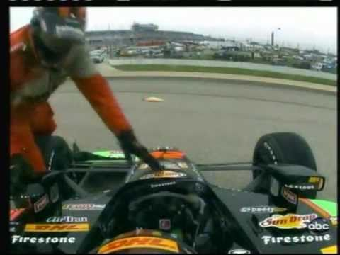 2011 Indycar Milwaukee - Ryan Hunter-Reay crash