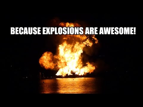 Illuminations Fire Barge Blow Off Explosion Epcot Walt Disney World