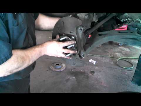 Front wheel bearing hub assembly Subaru Outback 2005 -2014 Legacy Install Remove Replace How to