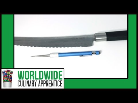 How to Sharpen a Bread Knife - Knife Sharpening - Serrated Knives Sharpening