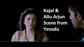 Kajal & Allu Arjun Scene From Yevadu || Ram Charan, allu Arjun, Sruthi Hasan, etc