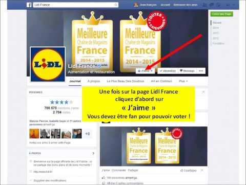 Comment voter pour Martine CADORET sur Facebook ?