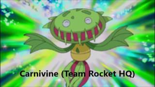 Team Rocket's Pokemon (Gen 1-6)
