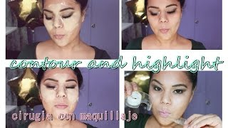 HOW TO : contour and highlight with duct tape | Contorno con cinta adhesiva |  oyuky larevista