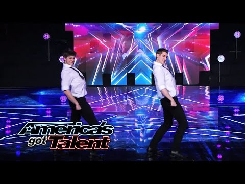 "Sean & Luke: Unique Tap Duo Puts a Spin on ""New York, New York"" - America's Got Talent 2014"