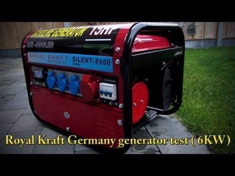 Royal Kraft Germany Generator test