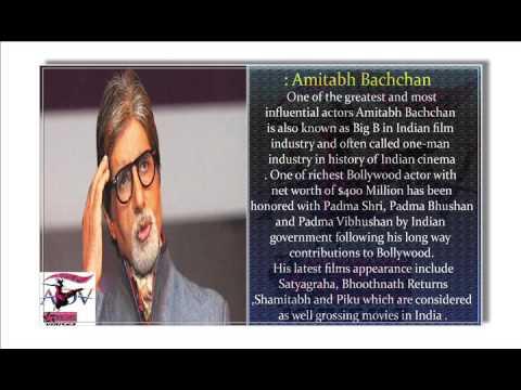 Amitabh Bachchan (Net Worth: $400 Million) Bollywood Actors ADV FILM PRODUCTION HOUSES VIDISHA