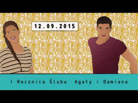 I Rocznica ślubu Agaty I Damiana