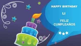 Li - Card Tarjeta - Happy Birthday