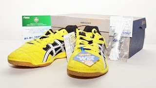 Asics Calcetto Futsal Shoes Soccer Yellow Wd White WD 6 TST328 US9  61919
