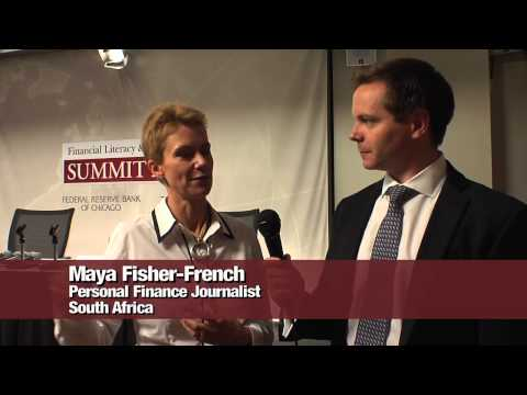 Visa's Sillin interviews South African journalist Maya Fisher-French at Financial Literacy Summit