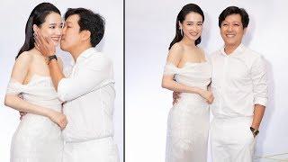 Đến mừng sinh nhật vợ, Trường Giang chủ động hôn Nhã Phương say đắm, tuyên bố: 'Yêu vợ mãi mãi'