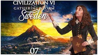 Civilization 6 - Gathering Storm Pre-Release as Sweden - Episode 7 ...Disaster Strikes...