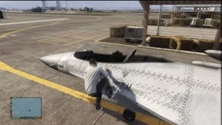 GTA V: How To Steal A Fighter Jet From Military Base (No Guns Needed)